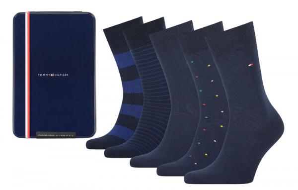 Tommy Hilfiger giftbox sokken blauw