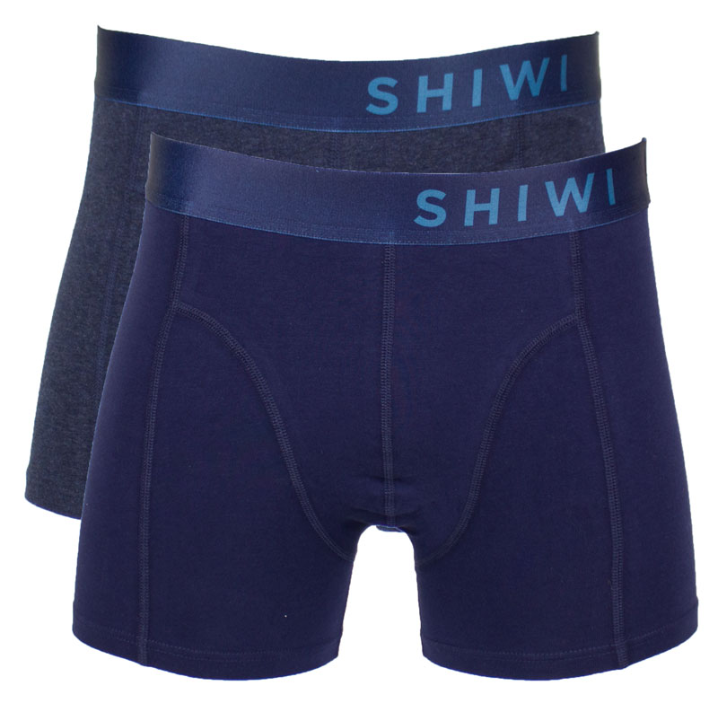 Shiwi Boxershort Solid 2-pack blauw