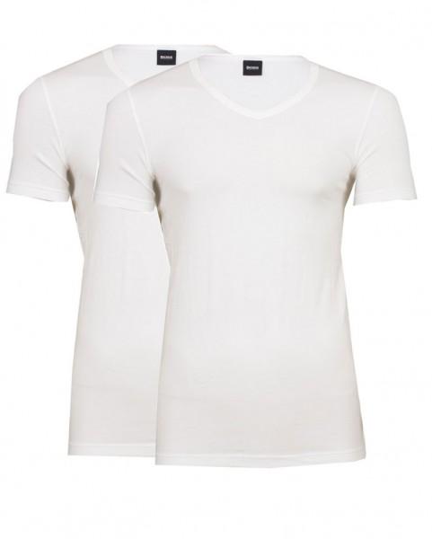 Hugo Boss V-shirt stretch slim fit 2-Pack