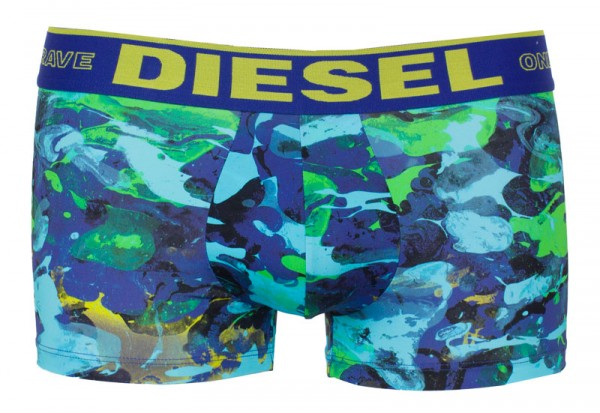 Diesel boxershort microfiber met print groen