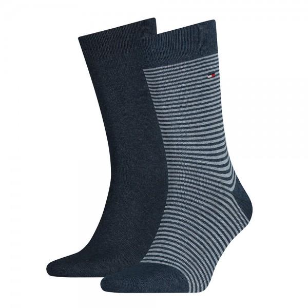 Tommy Hilfiger Sokken small stripe 2-paar blauw