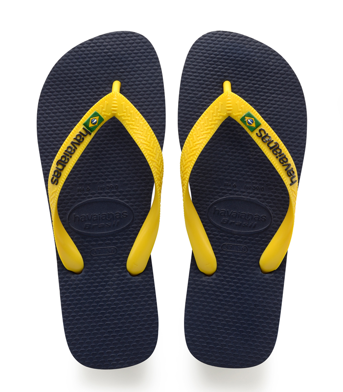 Havaianas Slippers Brasil logo blauw-geel