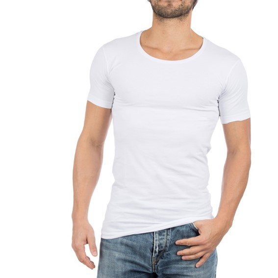 Alan Red T-shirt Noo 2-Pak stretch
