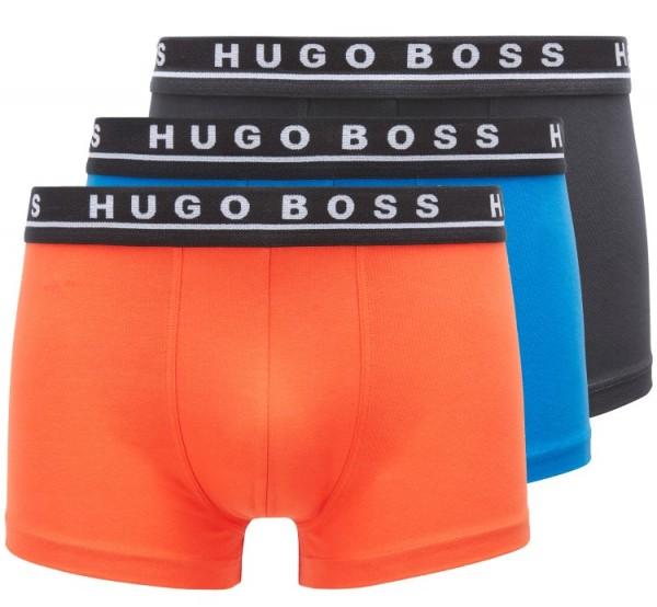 Hugo Boss short 3-pack oranje-blauw-antraciet
