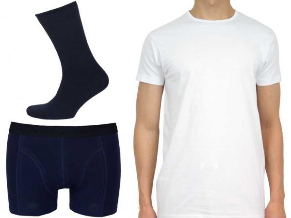 Onderbox Giftbox Tshirts+boxers+sokken blauw