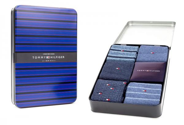 Giftbox sokken Tommy Hilfiger fine stripe 5-pack