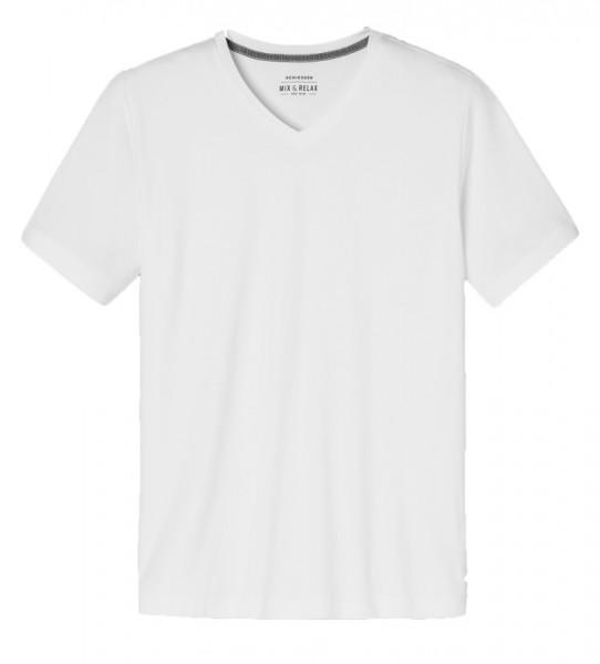 Schiesser Pyjamashirt V-hals soft modal