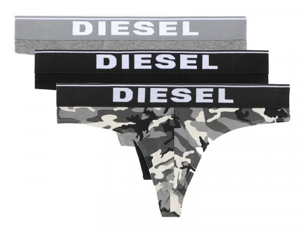 Diesel Herenstrings Camouflage zwart