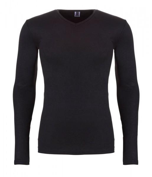 Ten Cate Thermo V-shirt lange mouw zwart