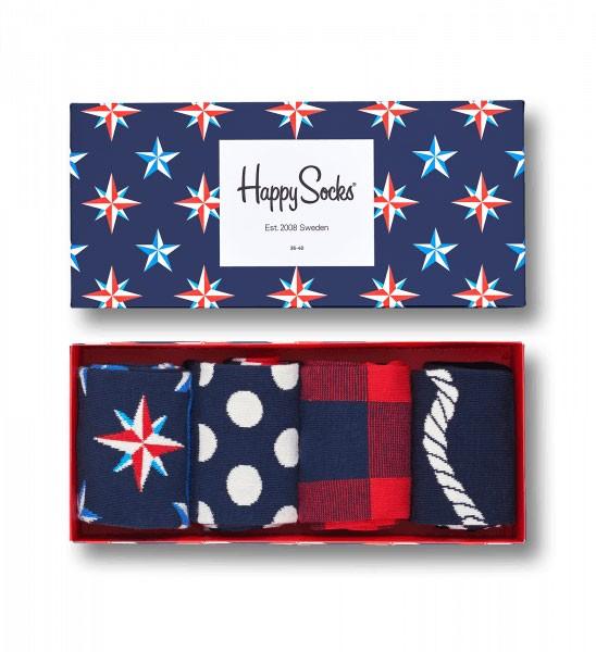 Happy Socks Sokken giftbox 4-pack Nautical