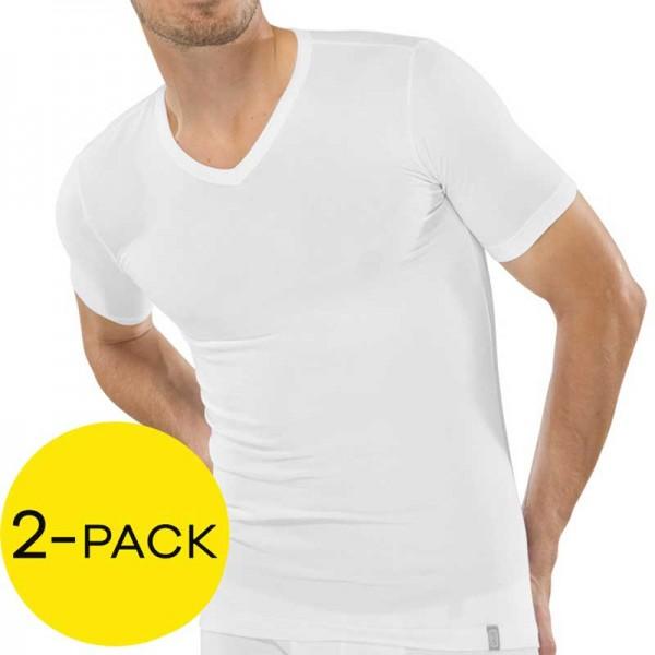 Schiesser V-shirt 95-5 stretch 2-Pak