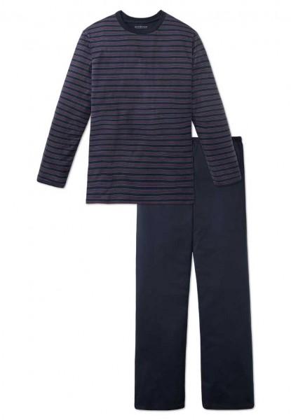 Schiesser pyjama gestreept ronde hals