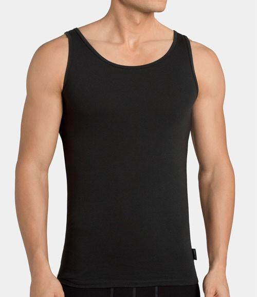 Sloggi Hemden 24/7 vest 2-pack voorkant zwart