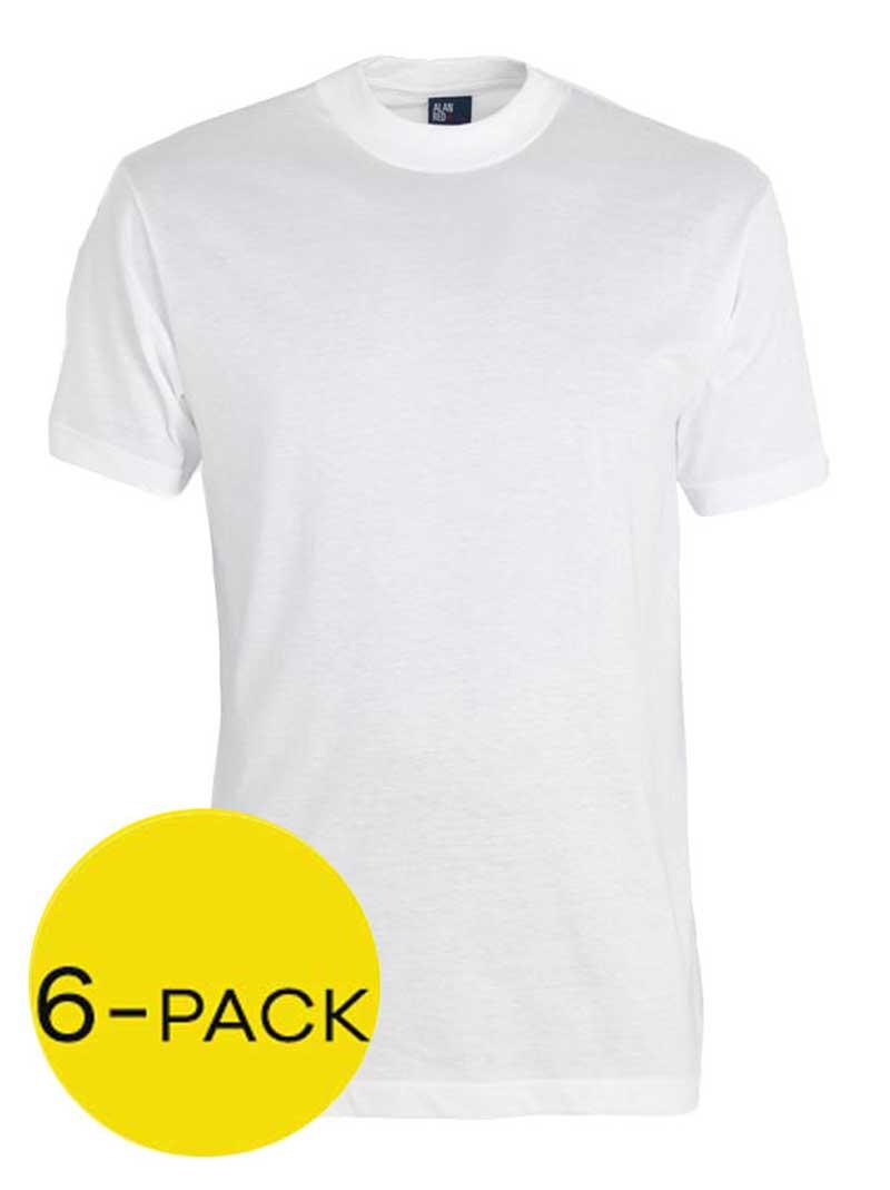 Alan Red Virginia T-shirt 6-pack