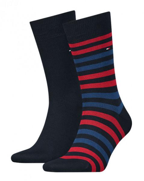 Tommy Hilfiger sokken heren rood blauw streep