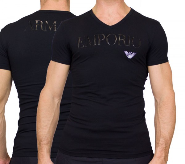 Armani V-shirt EA logo print