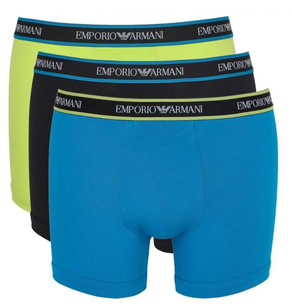 Armani 3-pack boxershorts -blue-geel-blauw