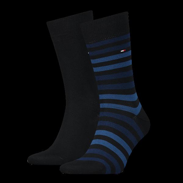Tommy Hilfiger heren sokken gestreept 2-paar blauw