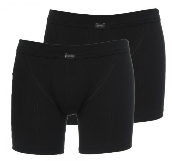 Schiesser boxershort Authentic 2-pack zwart