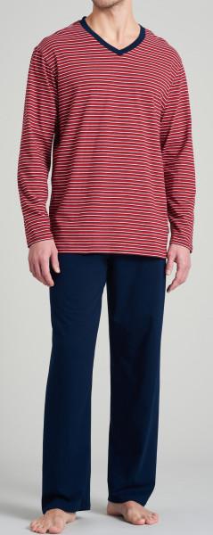 Schiesser pyjama met V-hals voorkant