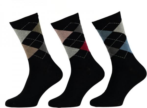 Apollo heren sokken ruit 3-paar
