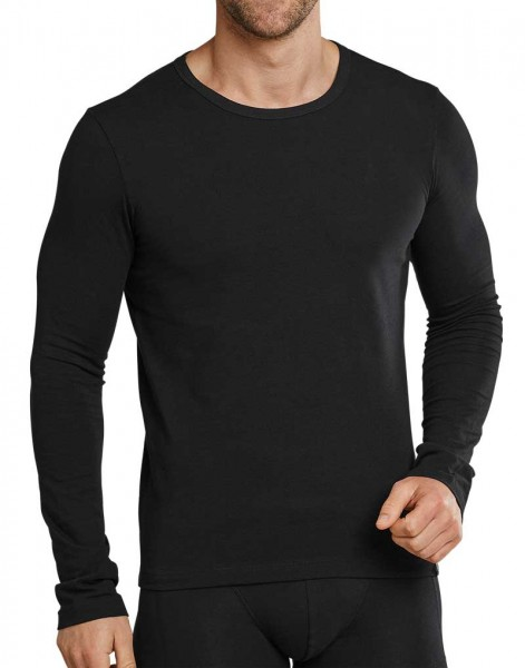 Schiesser T-shirt lange mouw 95-5 zwart