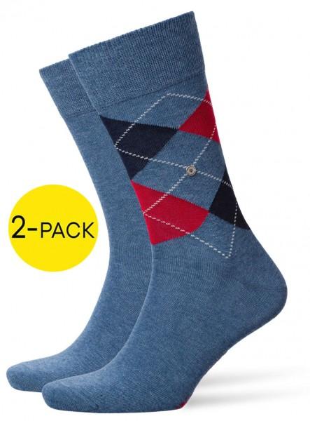 Burlington Everyday mix sokken 2-pack blue