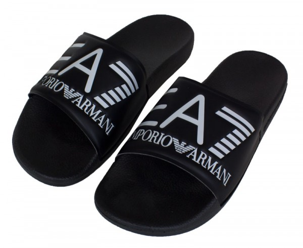 Armani badslippers EA7 zwart