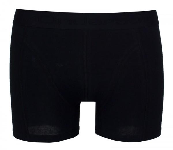 Onderbox boxershorts basic 6-pack zwart voorkant