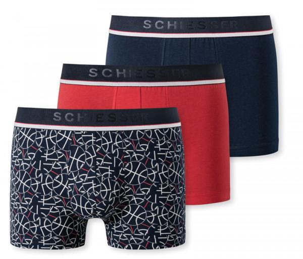 Schiesser boxershorts 3-pack rood