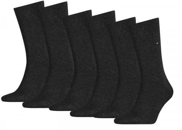 Tommy Hilfiger effen sokken 6-paar antraciet