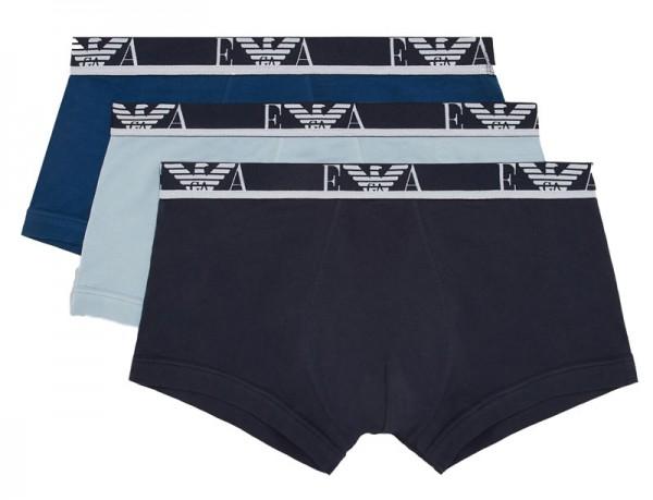 Armani boxershorts blue blauw 3-pack