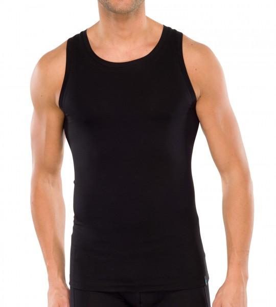 Schiesser Hemd Long life - soft 155629 zwart