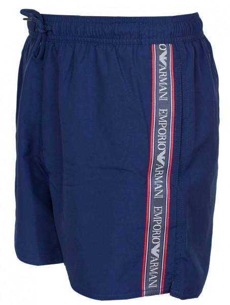 Armani Zwemshort logo band blauw