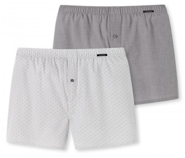 Schiesser Boxershorts 2pack taupe