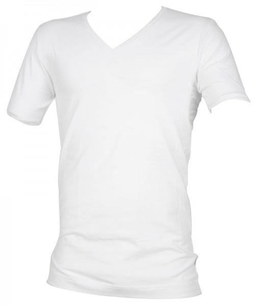 Alan Red V-shirt Oxfort stretch