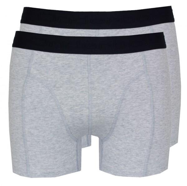Onderbox Boxershorts basic 2-pack grijs