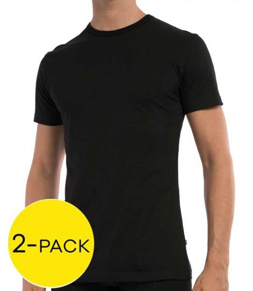 Claesens cl1021 T-shirt stretch 2-pack zwart