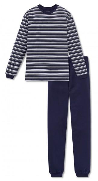 Schiesser pyjama ronde hals met streepjes