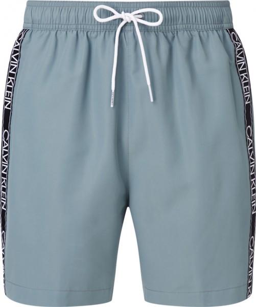 Calvin Klein zwemshort medium drawstring grijs voorkant