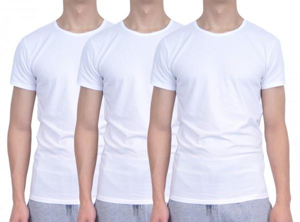 Tommy Hilfiger T-shirts 3-pak ronde hals wit
