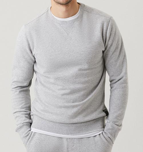 Bjorn Borg Centre crew sweatshirt voorkant grijs