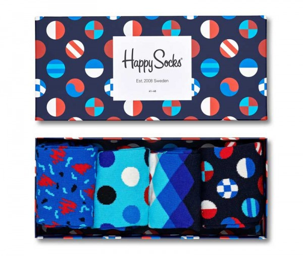 Happy Socks Sokken giftbox Black-white