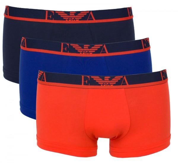 Armani boxershorts 3-pack oranje blauw