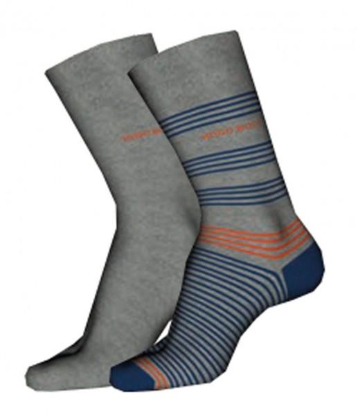 Hugo Boss heren sokken streep-effen grijs