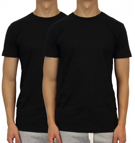 Claesens T-shirt 1020 2-Pack zwart