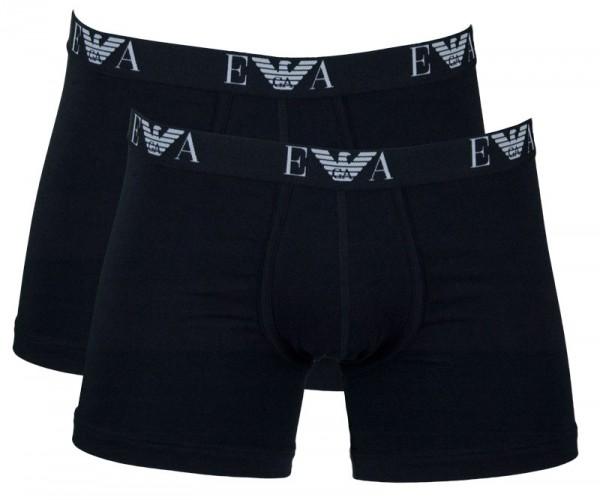 Armani boxershorts essential monogram 2-pack zwart