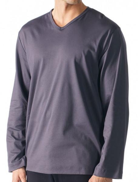 Mey V-hals pyjamashirt voorkant grijs