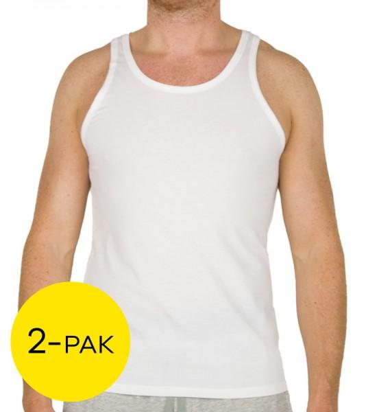 Calvin Klein hemden 2-pack modern cotton wit