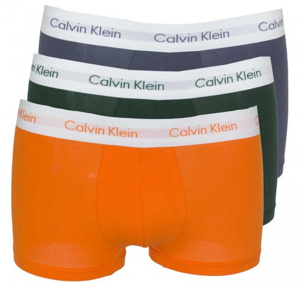 Calvin Klein Short low rise 3-pack oranje